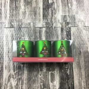 Christmas Candle Set Xmas Trees Pier One